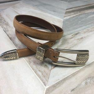 Brighton Skinny Leather Belt Size Small 28